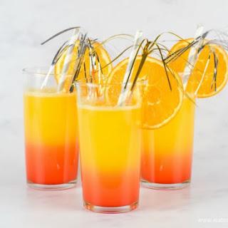New Year Sunrise Mocktail for Kids Recipe