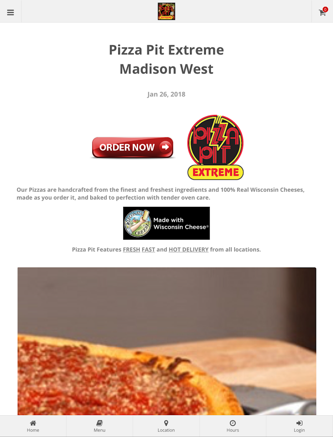 Pizza Pit Extreme Madison West Online Ordering- screenshot