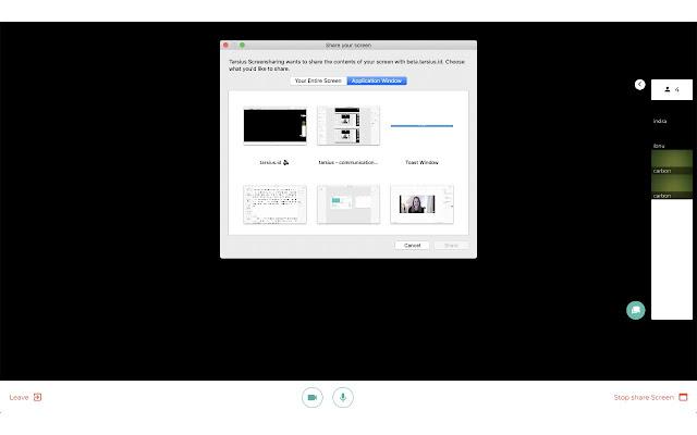 Tarsius Screensharing