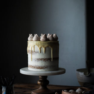 Vanilla Bean Butter Cake + White Chocolate Mousse.
