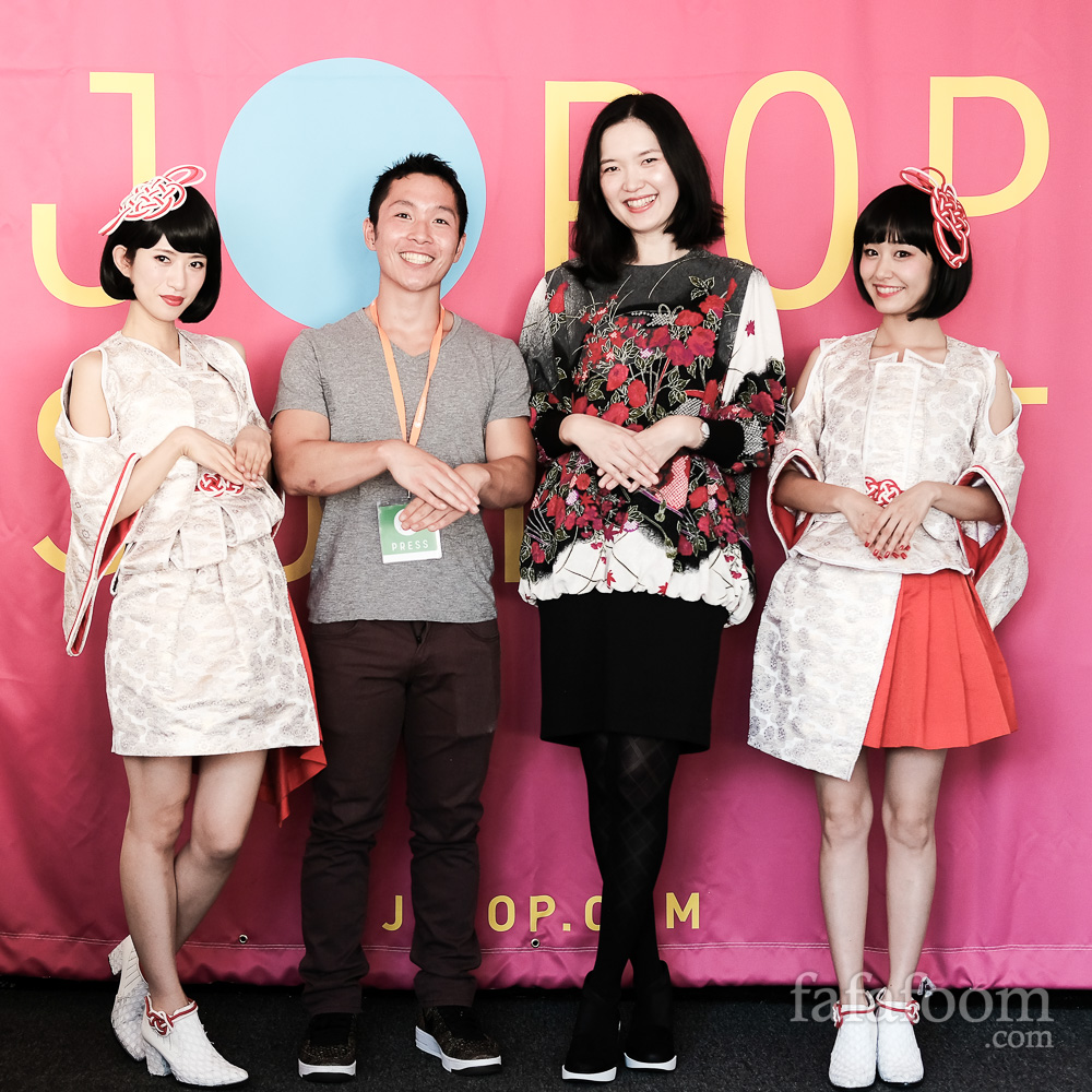 Yanakiku at J-Pop Summit 2017, with Mira Musank and Kuni Natsuki. Image: Christian Hadidjaja for Fafafoom.