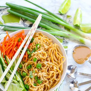 Asian Peanut Noodles for One