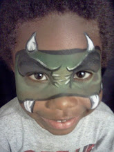 Photo: Monster mask face paint by Teressa, Costa Mesa, Ca.Call to booked Teressa for your next event: 888-750-7024
