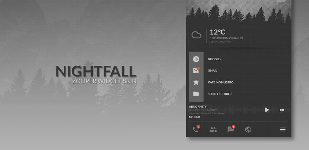 Nightfall Zooper Widget Skin 0 Apk Download - com behemoth