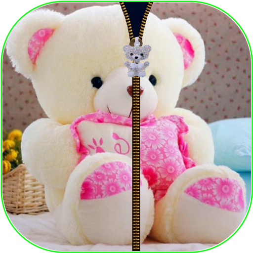 TeddyBearCute ZipperScreenLock