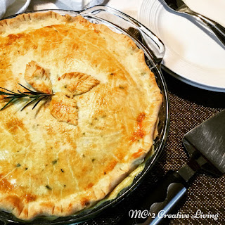 Chicken Pot Pie with Parmesan Rosemary Crust.