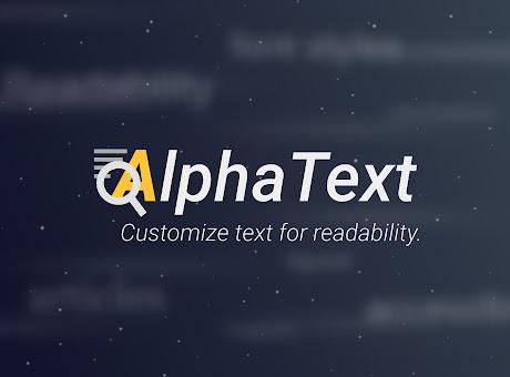 AlphaText - Make text readable!
