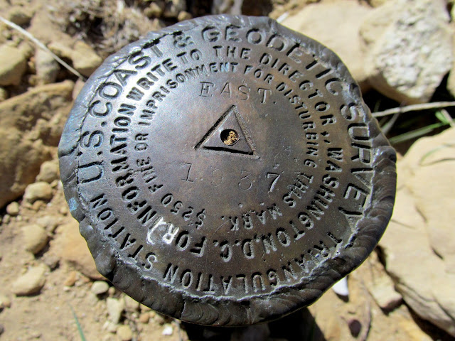 1937 survey marker on East Mountain