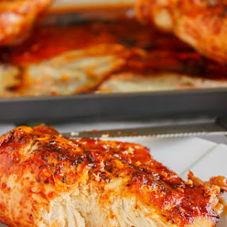 Sweet Sriracha Chicken Breasts.