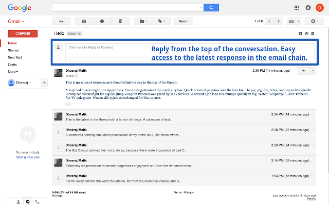 Gmail - Reply at the TOP