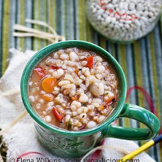 Healthy Vegan Bean & Barley Soup