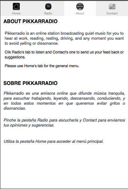 Pikkarradio- screenshot