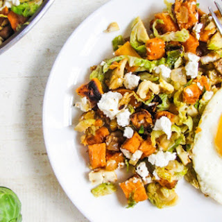 Brussels Sprout and Sweet Potato Hash