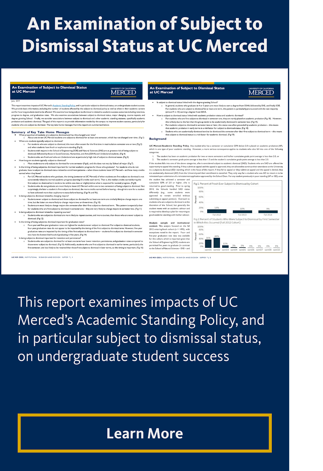 An Examination of Subject to Dismissal Status at UC Merced