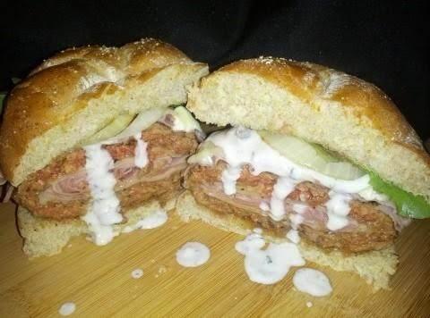 Black And Cordon Blue Burger Recipe