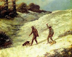 "Photo: Gustave Courbet, ""Bracconieri nella neve"" (1864)"