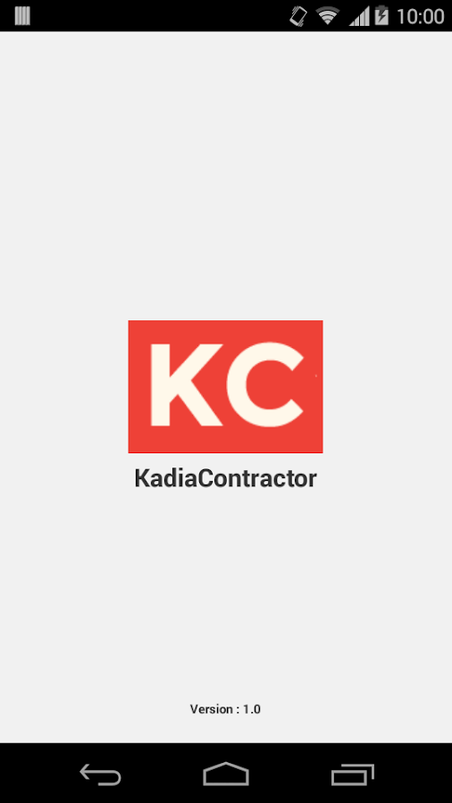 KadiaContractor- screenshot