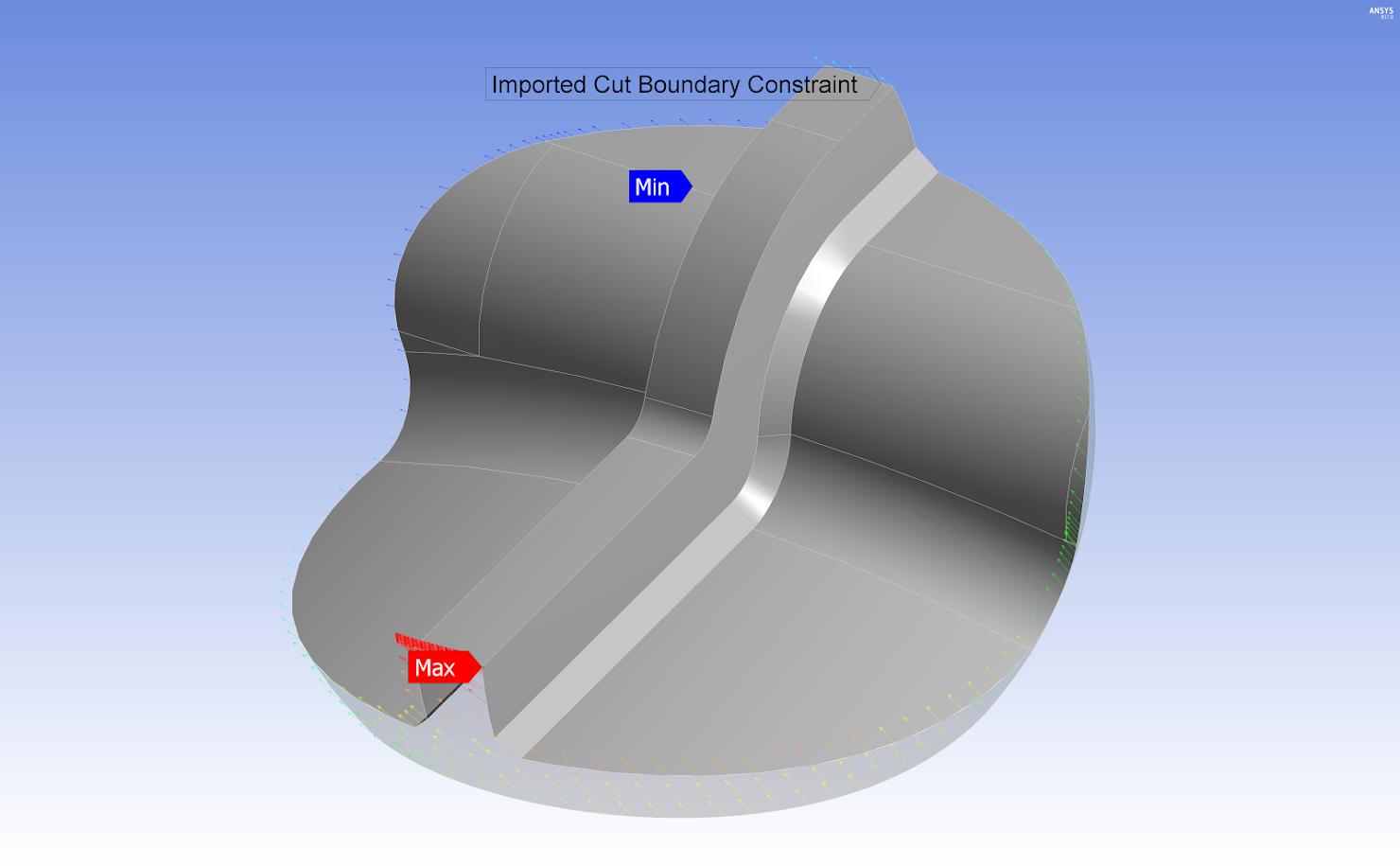 ANSYS Передача перемещений из расчёта полной модели в качестве граничных условий для расчёта подмодели