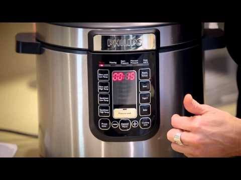 Phillips pressure cooker pot has non-sticking features to prevent foods from sticking to the surface of the pot. Source: Phillips