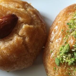 Semolina Cookies - Turkish Sekerpare Dessert - Ramadan Recipes.