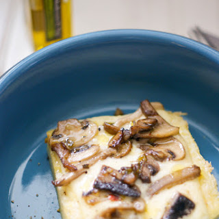 Polenta with Raclette and Mushrooms Recipe