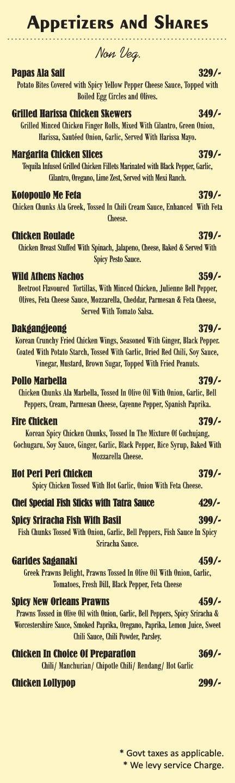 Amuse Resto Bar menu 4