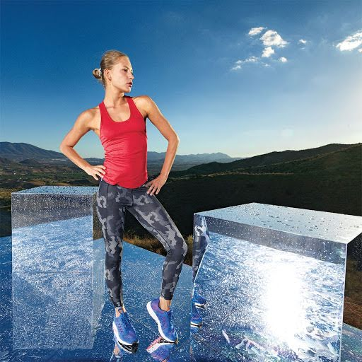 TriDri Hexoflage Yoga Leggings (Camo Sapphire)