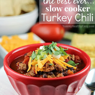 The Best Ever Slow Cooker Turkey Chili