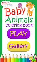 Screenshot of Baby Animals Coloring Book