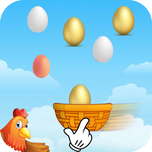Basket Egg Catcher Game: Egg Toss