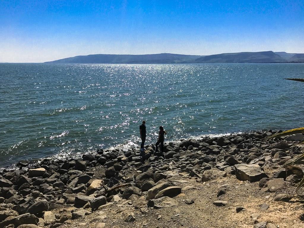 На берегу Кинерета, Израиль.