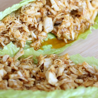 Low Carb Pulled Chicken Wraps.