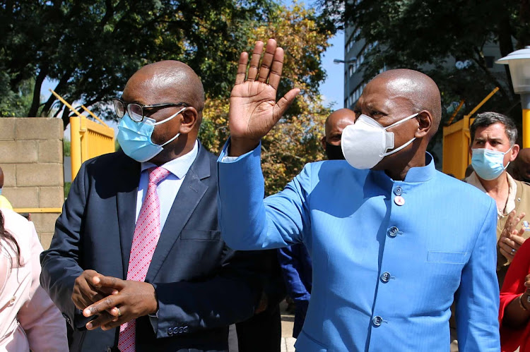 Health Minister Dr Zweli Mkhize and Gauteng premier David Makhura visit the Charlotte Maxeke hospital on Thursday to assess the state of readiness for the second phase of the vaccination programme.