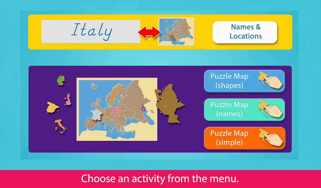Europe - Montessori Puzzle Map- screenshot