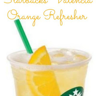 DIY Copycat Starbucks Valencia Orange Refresher