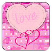 Pink Hearts Keyboard Designs