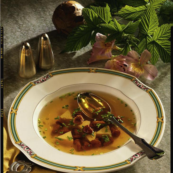 Mushroom Consommé With Omelette
