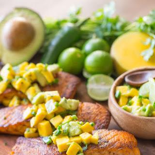 Chili Lime Salmon with Avocado Mango Salsa