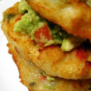 Bacalaitos with Guacamole