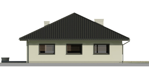 Dom przy Makowej 3 - Elewacja tylna