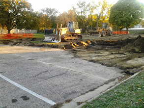 Photo: Excavation for parking lot expansion 10-22-2013