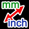 mm / inch converter icon