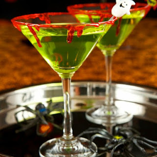 Zombie Slime Shooters Halloween Cocktail.
