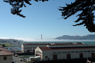 Photo: Ft. Mason Hostel Richtung Golden Gate Bridge