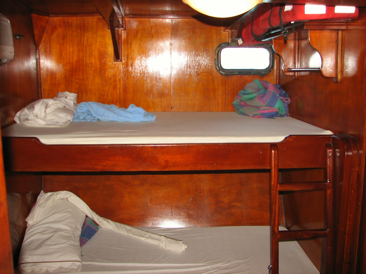 Our bunk bed cabin on the Angelique