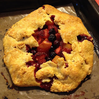Low- Fat Berry Galette.