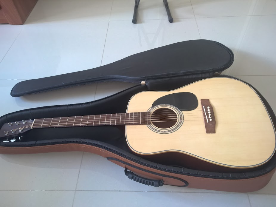 Bao đàn guitar cao cấp màu nâu
