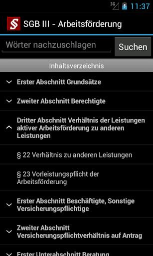 Sozialgesetzbuch screenshot 4