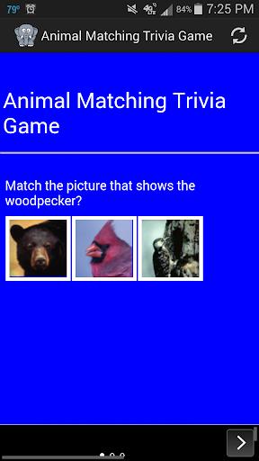 Animal Matching Trivia Game
