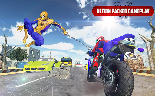 Spider Stunt Rider  Superhero Spider Highway Rider 1.0.2 screenshots 1